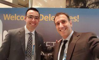 Con Oscar Ronzio, Argentina